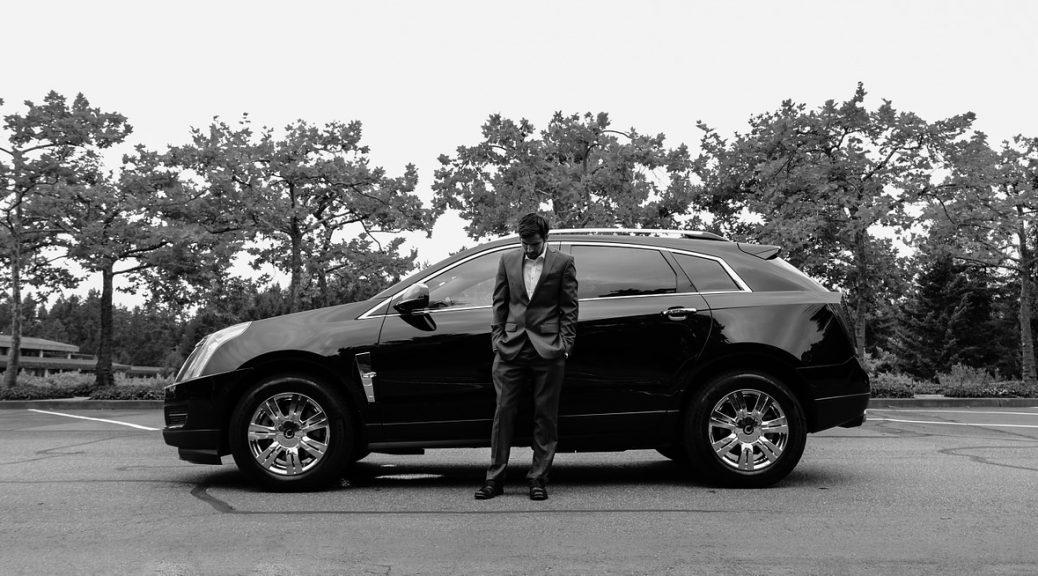 bedrijfswagen zakenman